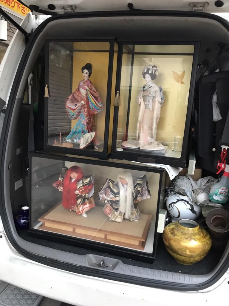 日本人形と花瓶の買取