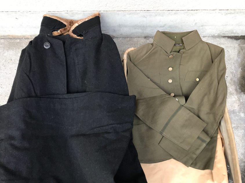 戦時中の軍服とコート