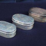 純銀製の三組御弁当箱