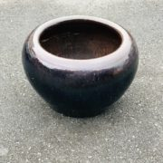 葛明祥造の海鼠釉の古火鉢