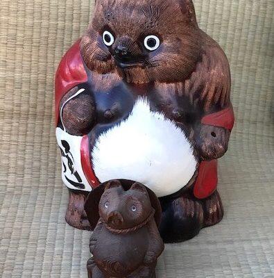 設楽焼の狸(たぬき)