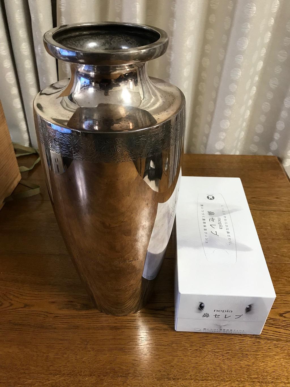 純銀の花瓶