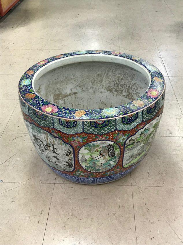 古伊万里「色絵火鉢」