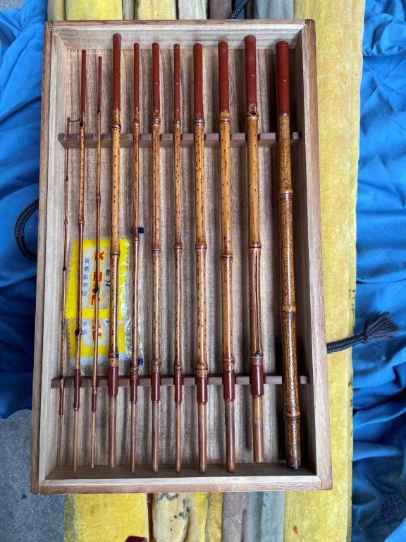 昭和時代の古い釣竿(釣り具)